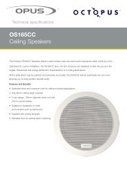 OS165CC Ceiling Speakers - Focal Audio Systems Pvt. Ltd.