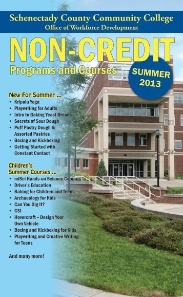 Programs and Courses - Schenectady County Community College