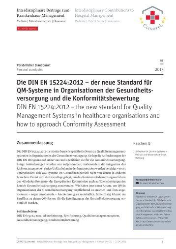 PDF 0,3 MB   14 Seiten - CLINOTEL-Journal