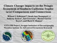 Climate Change Impacts on the Pelagic Ecosystem of Southern ...