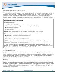 Taking Care at Home After Surgery This checklist is ... - Fraser Health