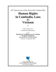 Human Rights in Cambodia, Laos Vietnam - Vietnam Human Rights Network