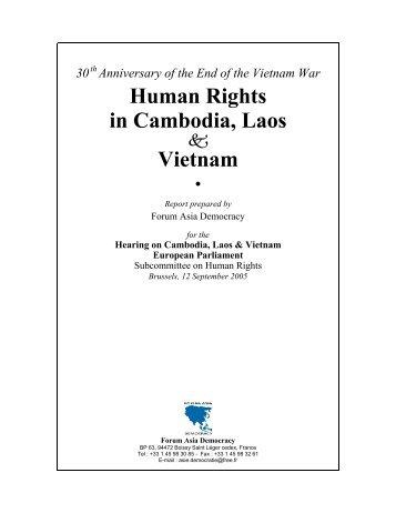 Human Rights in Cambodia, Laos Vietnam - Vietnam Human Rights Network