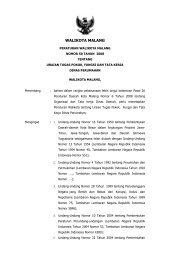 Peraturan Walikota Malang Nomor 50 Tahun 2008 tentang Uraian ...