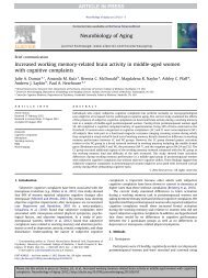 Increased working memory-related brain activity in middle-aged ...