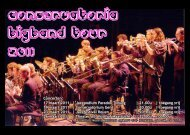 Conservatoria Bigband Tour 2011 - Conservatorium Maastricht