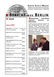 Bericht aus Berlin Januar 2007 - Karin Evers-Meyer MdB