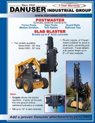 Danuser PostMaster - Edney Distributing Co. Inc.