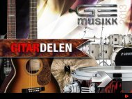 GE Musikk Gitar - profil