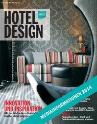 Mediadaten HOTELDESIGN 2014 - AHGZ Hotel Design
