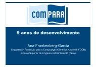 Apresentação em PDF - Linguateca