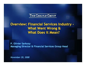 Overview: Financial Services Industry Overview: Financial Services ...