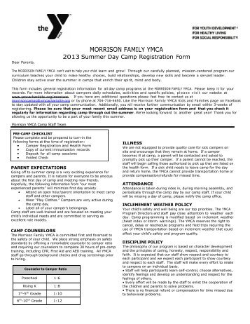 MORRISON FAMILY YMCA - YMCA of Greater Charlotte