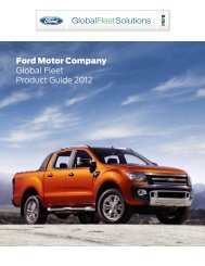 Ford Motor Company Global Fleet Product Guide 2012