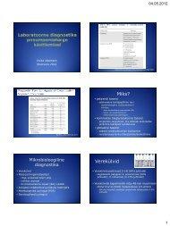 Laboratoorne diagnostika pneumoonia ravi optimeerimisel dr. V ...
