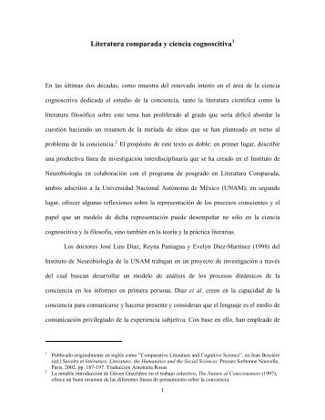 Literatura comparada y ciencia cognoscitiva - Luz Aurora Pimentel ...