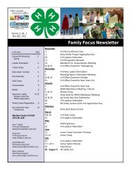 Family Focus Newsletter - Marathon County - University of ...