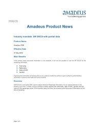 2009-05-01 3rd party notification Industry mandate SR ... - Amadeus