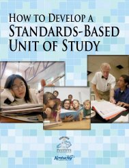 Planning A Standards Based Unit