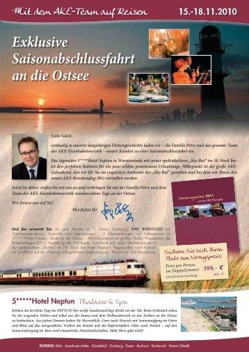 Reisezeitraum: 12. – 17. Oktober - AKE Eisenbahntouristik