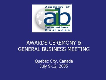 Download the Awards and General Business Meeting Presentation