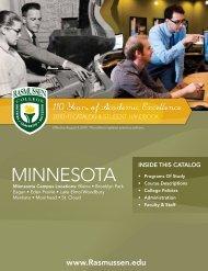 to download Minnesota's catalog - Rasmussen College
