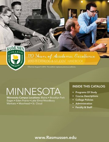 to download Minnesota's catalog - Rasmussen College
