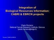 CABRI & EBRCN projects