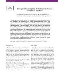 Postoperative Elongation of the Xiphoid Process —Report ... - Atcs.jp