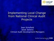 Achieving local improvement from national projects - HQIP