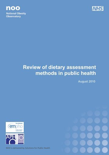 Review of dietary assessment methods in public health - National ...