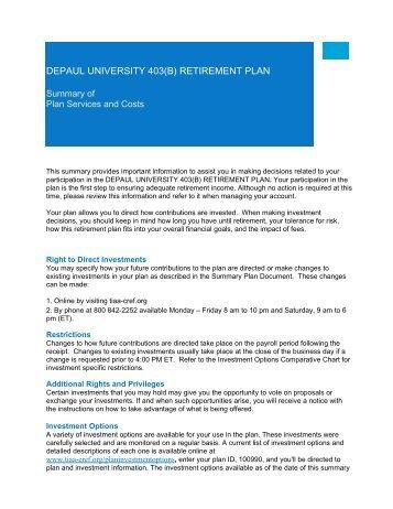 Depaul University 403b Retirement Plan Contribution Election Form