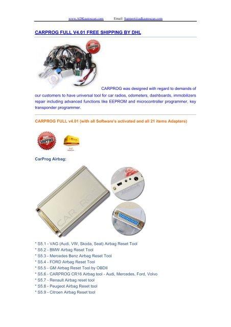 CARPROG FULL V4 01 FREE SHIPPING BY DHL pdf