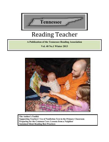 Tennessee Reading Teacher Winter 2013