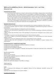 Médiateur/Médiatrice, responsable de l'action éducative - Cipac