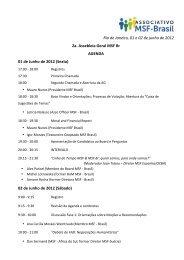 Rio de Janeiro, 01 e 02 de junho de 2012 2a. Assebleia Geral MSF Br
