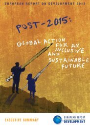 Post-2015: Global Action for an Inclusive and Sustainable Future
