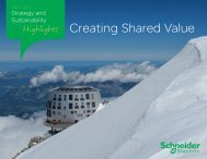 Strategy and Sustainability Highlights - 2012-2013 - Schneider Electric