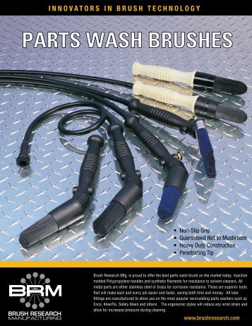 PARTS WASH BRUSHES - Brush Research