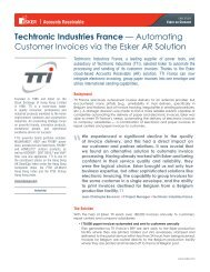 Techtronic Industries France — Automating Customer ... - Esker