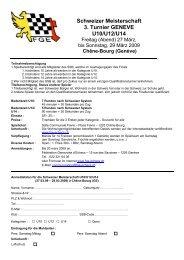 Schweizer Meisterschaft 3. Turnier GENEVE U10/U12/U14