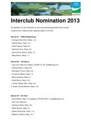 Nomination Interclub 2013 [PDF] - Golfclub Domat/Ems
