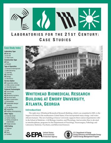 Whitehead Biomedical Research Building at Emory University ... - I2SL