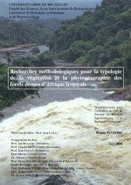 Recherches méthodologiques pour la typologie de la végétation et ...