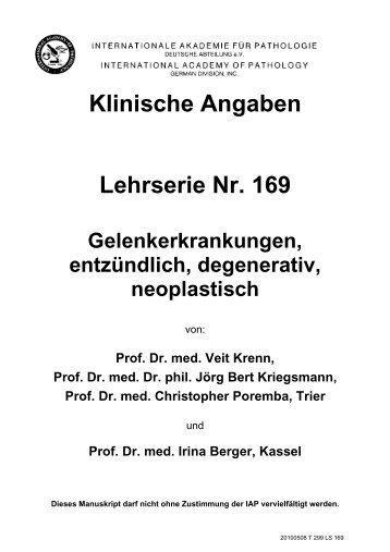 Klinische Angaben Lehrserie Nr. 169 - Iap-bonn.de