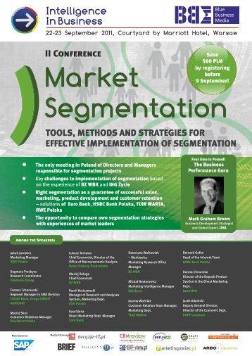 Market Segmentation 2011 WEB ... - Blue Business Media