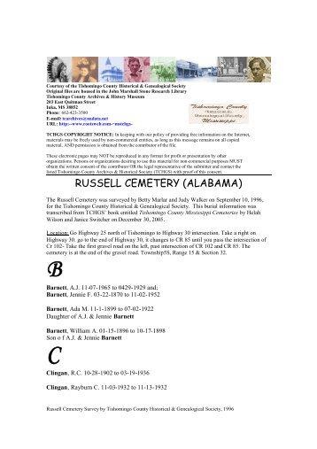 RUSSELL CEMETERY (ALABAMA)