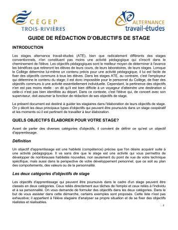 (PDF) Guide de redaction du rapport de stage icia | …