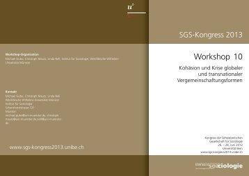 Workshop Nr.10 - Sektion Wissenssoziologie der Deutschen ...