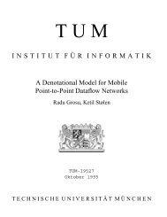 INSTITUT F¨UR INFORMATIK A Denotational Model for ... - CiteSeerX